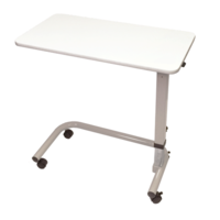 Aspire Overbed Table - Laminate Flat Top White
