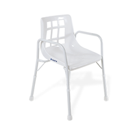 Aspire Shower Chair with Arms - Aluminium